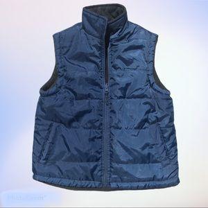 Reversible Lightweight Vest Nylon & Fleece Pockets